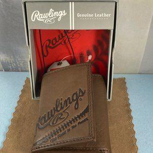 Rawlings Fielder's Choice Leather Tri Fold Wallet